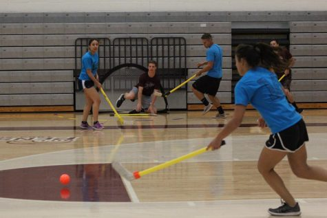 Seniors score victory in floor hockey tournament