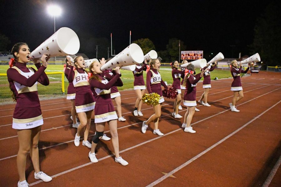 SLATER CHEERLEADERS COMPETE IN COLONIAL LEAGUE CHAMPIONSHIP