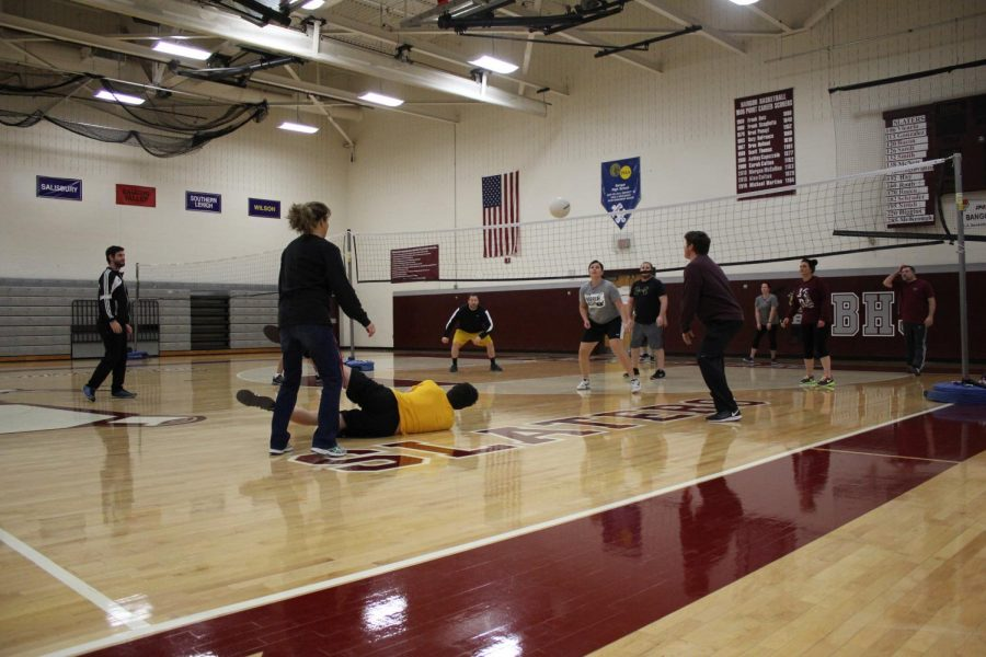 VOLLEYBALL ACTION SPIKING ON FRIDAY