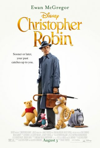 CHRISTOPHER ROBIN (AUGUST 9, 2018, PG)  By Tori Tarallo   Years laters, all grown up and lacking even the slightest shimmer of imagination, over-worked and pessimistic Christopher Robin (Ewan McGregor) receives a visit from his old friends from the Hundred Acre Wood. Winnie-the-Pooh (Jim Cummings) and friends return to Robin