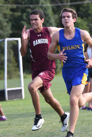 DRIVE! Junior Donny Stambaugh digs deep and channels intensity to further his final placement. Cross country isn't just about running, you've got to give it your all and leave everything on the course!