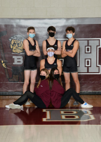 SENIOR SWAG! Slater wrestling seniors snap a quick flick before dominating on the mats. Look-good, feel good, with these snazzy seniors leading the team, the Slaters are unstoppable!